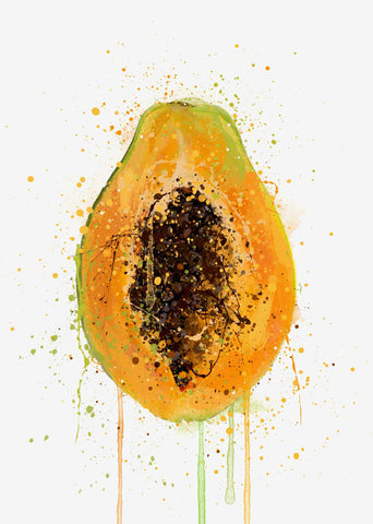 Papaya Fruit Wall Art Print