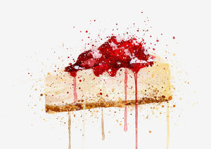 New York Cheesecake Wall Art Print