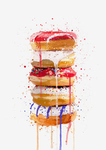 Doughnut Stack Wall Art Print