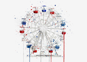 Ferris Wheel Wall Art Print