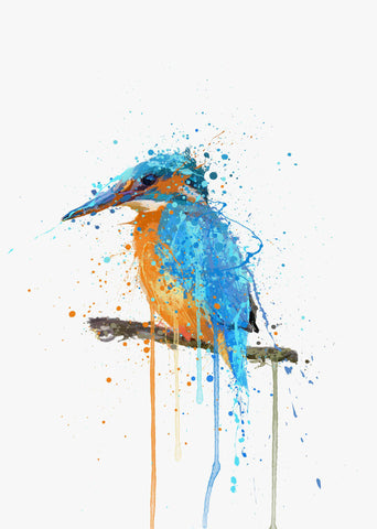 Kingfisher Bird Wall Art Print