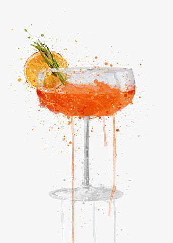 Orange Cocktail Wall Art Print