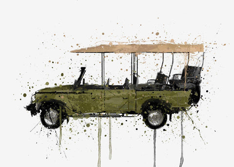 Safari 4x4 Vehicle Wall Art Print