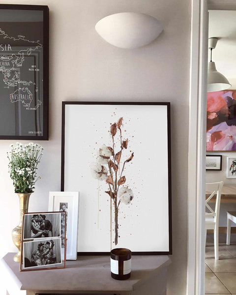 Botanical Wall Art Print 'Cotton'