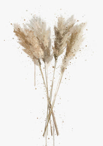 Botanical Wall Art Print 'Pampas Grass'