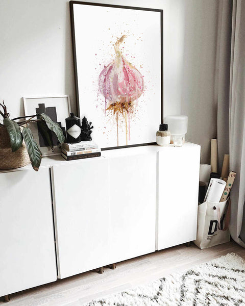 Garlic Bulb Vegetable Wall Art Print