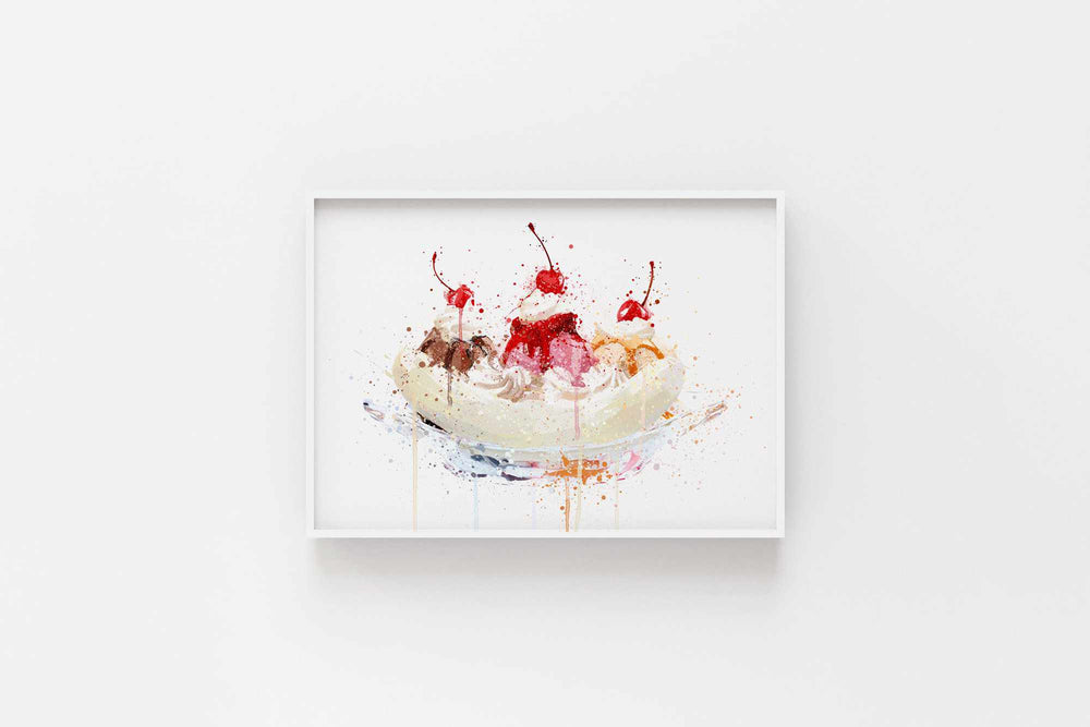 Banana Split Wall Art Print