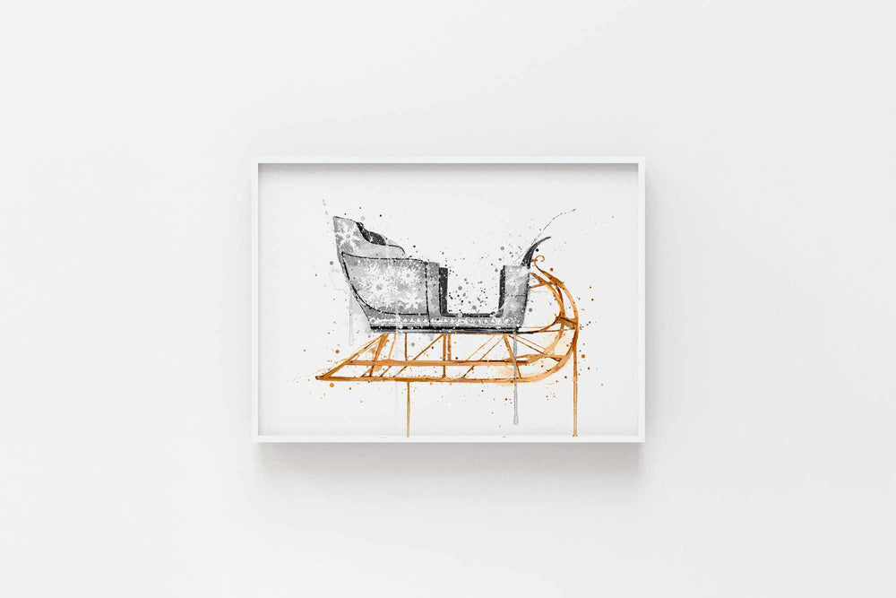 Christmas Sleigh Wall Art Print