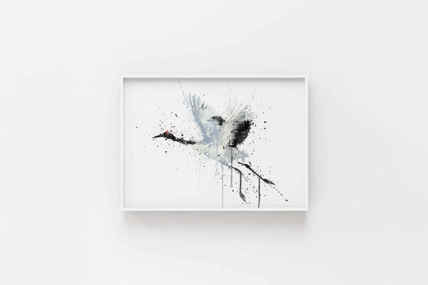 Crane Bird Wall Art Print