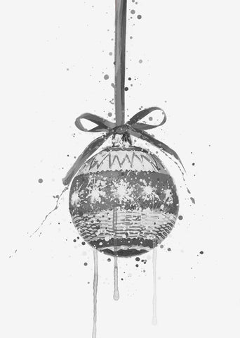 Christmas Bauble Wall Art Print