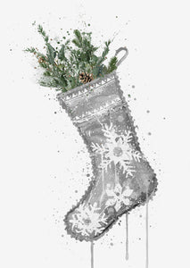 Christmas Stocking Wall Art Print