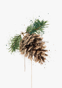 Pinecone Wall Art Print 2.0