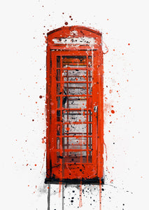 Telephone Box Wall Art Print