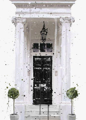 London Front Door Wall Art Print