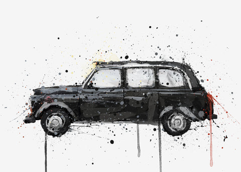Black Cab Taxi Wall Art Print