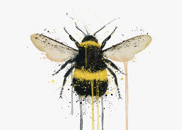Bumblebee Wall Art Print (Horizontal)