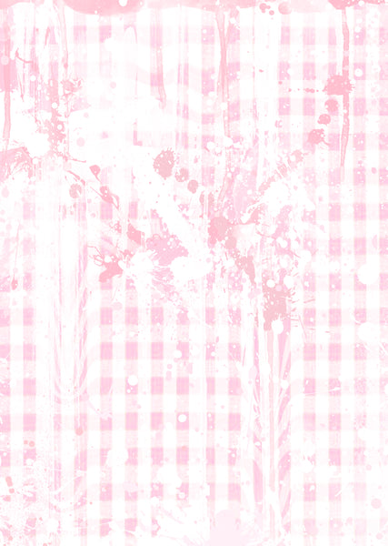 Alternative Pink Gingham Abstract Wall Art Print