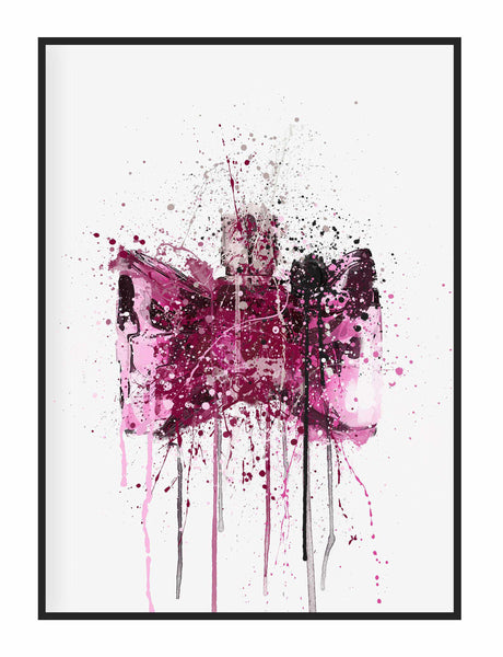 Fragrance Bottle Wall Art Print 'Bow'