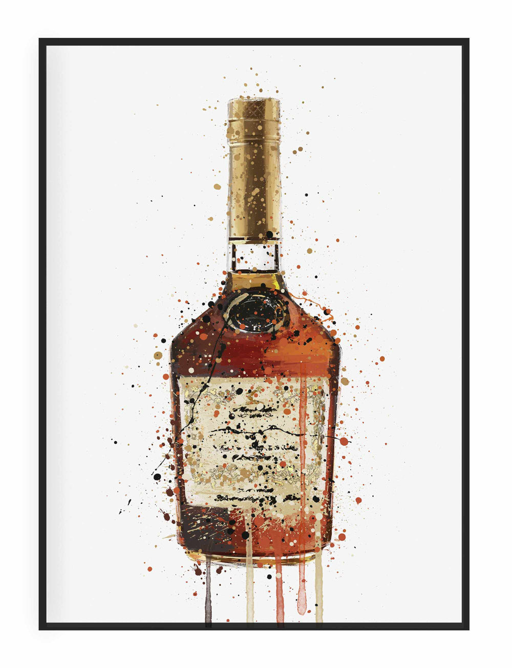Liquor Bottle Wall Art Print 'Burnt Toffee'