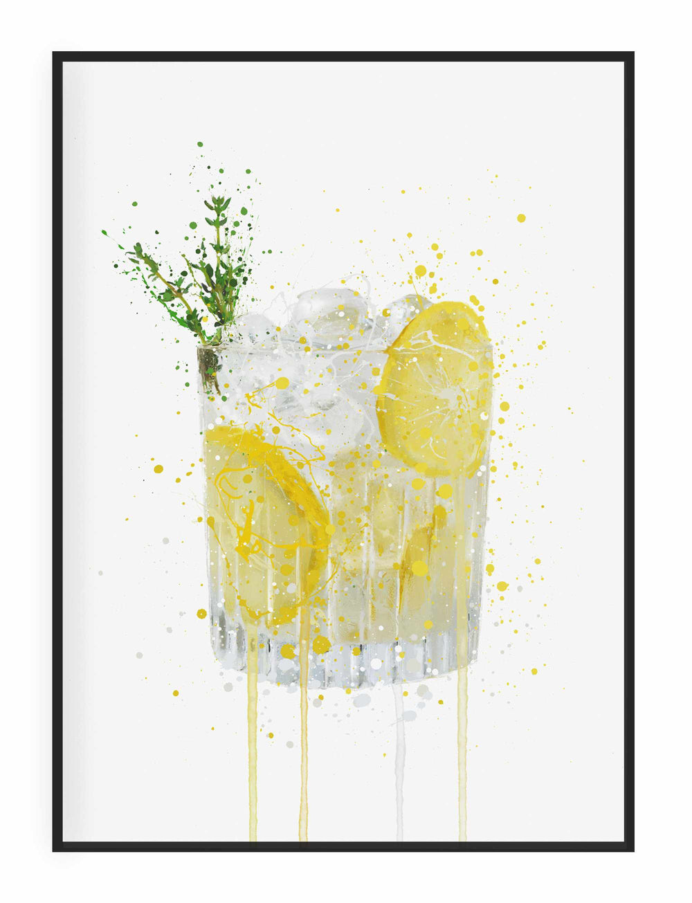 Gin and Tonic 'Lemon & Thyme' Wall Art Print