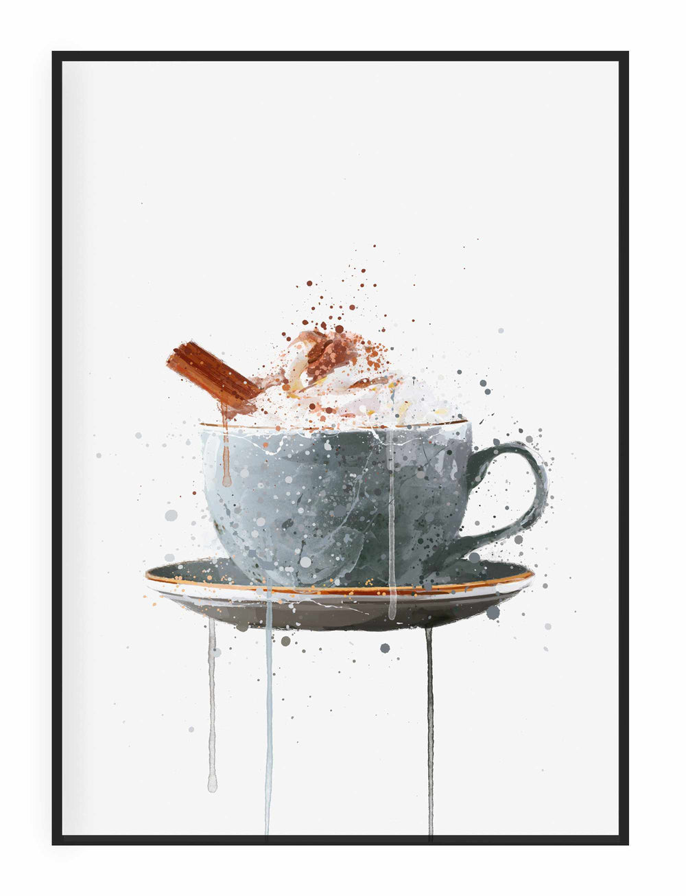 Christmas Hot Chocolate Wall Art Print