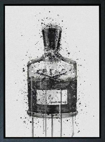 Premium Canvas Wall Art Print Fragrance Bottle 'Granite'-We Love Prints