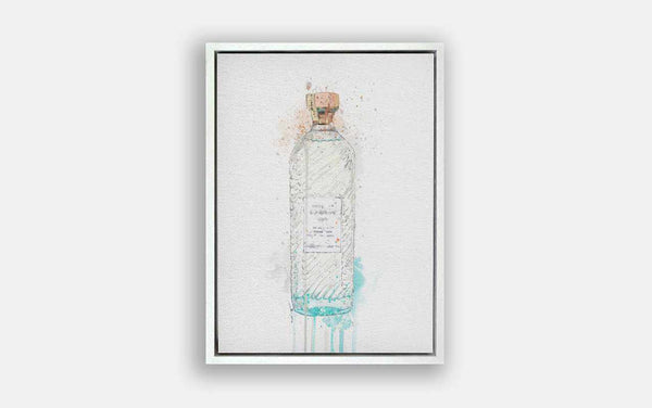 Premium Canvas Wall Art Print Gin Bottle 'Hebridean Hue'-We Love Prints