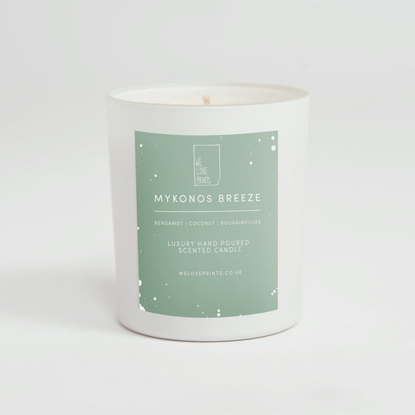 Luxury Hand-Poured Candle 'Mykonos Breeze'
