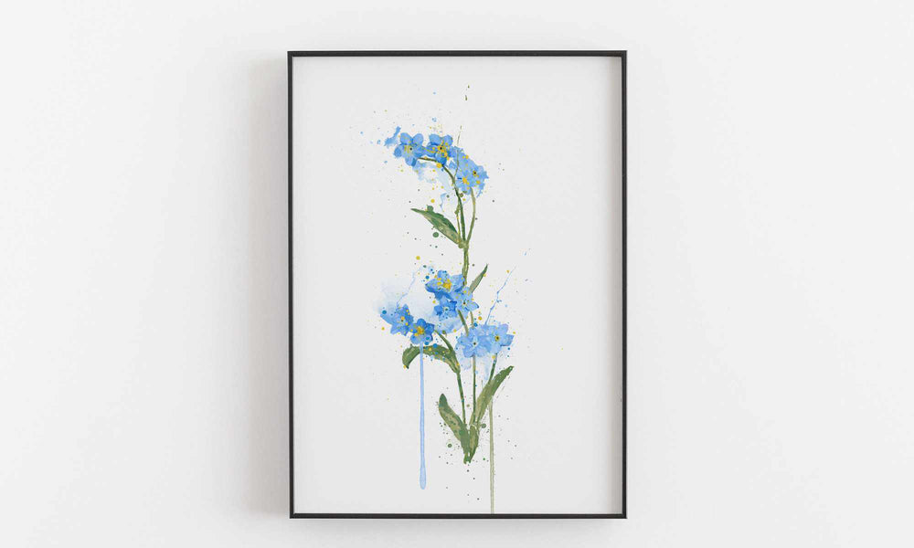 Flower Wall Art Print 'Forget Me Not'