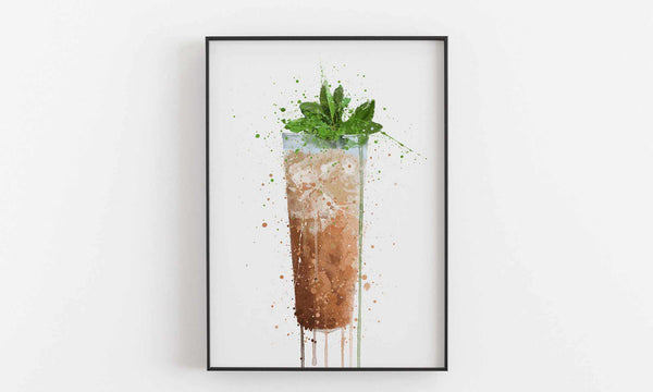 Iced Chai Latte Wall Art Print