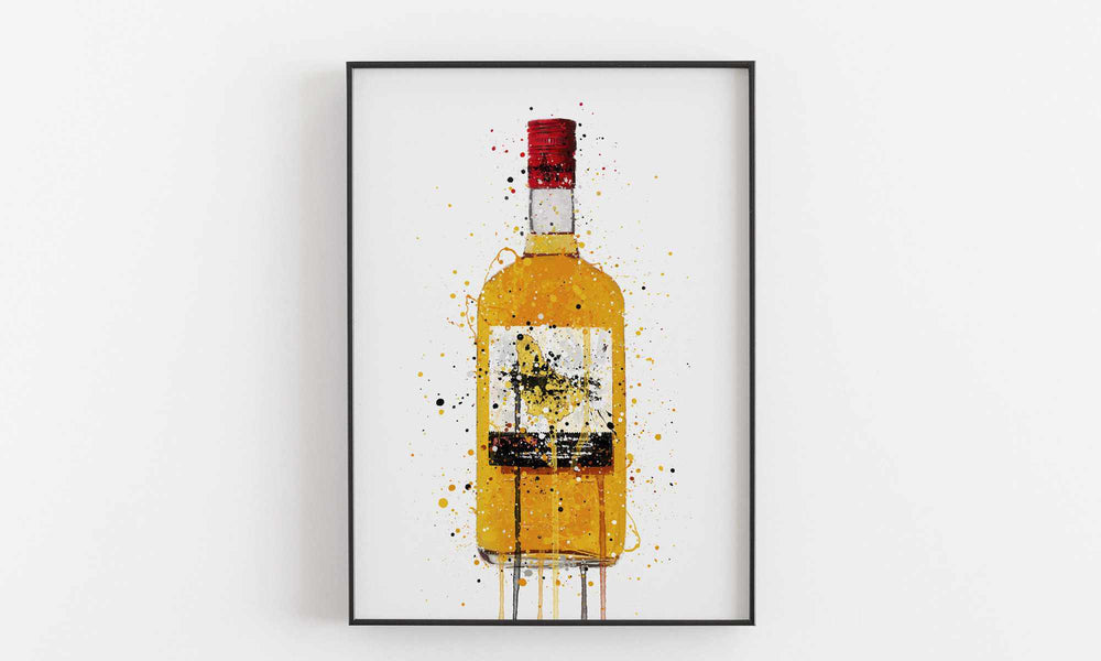 Rum Bottle Wall Art Print 'Treasure Island'