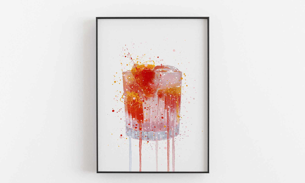 Gin and Tonic 'Pink Grapefruit' Wall Art Print