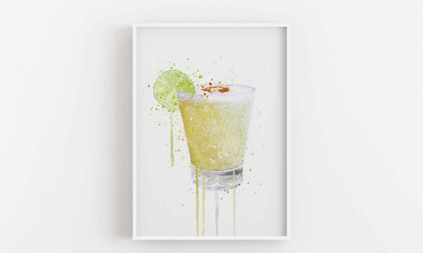 Pisco Sour Cocktail Wall Art Print