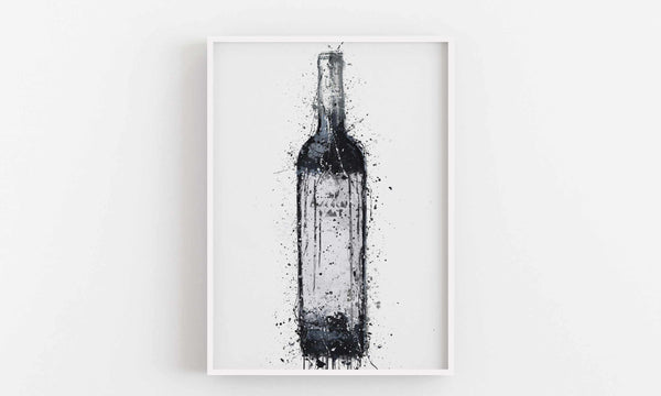 Wine Bottle Wall Art Print 'Cape'-We Love Prints