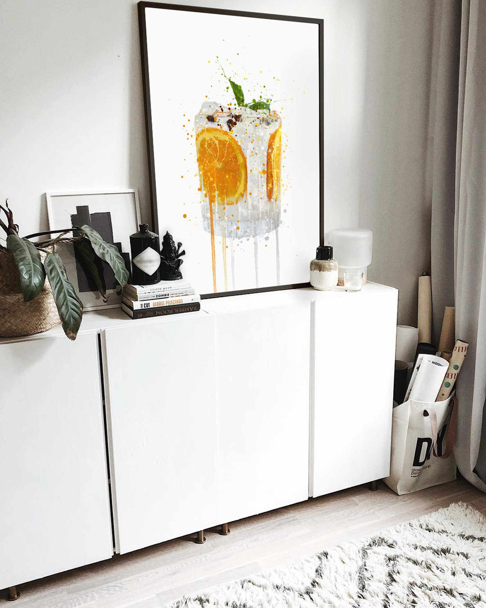 Gin and Tonic 'Orange & Basil' Wall Art Print