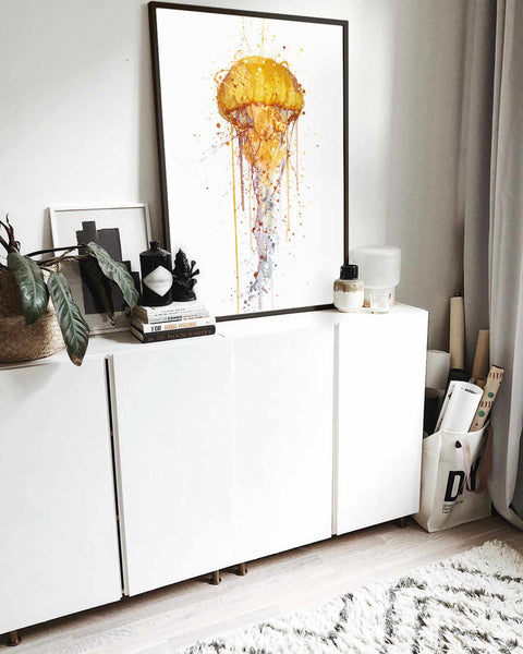 Sea Creature Wall Art Print 'Jellyfish'