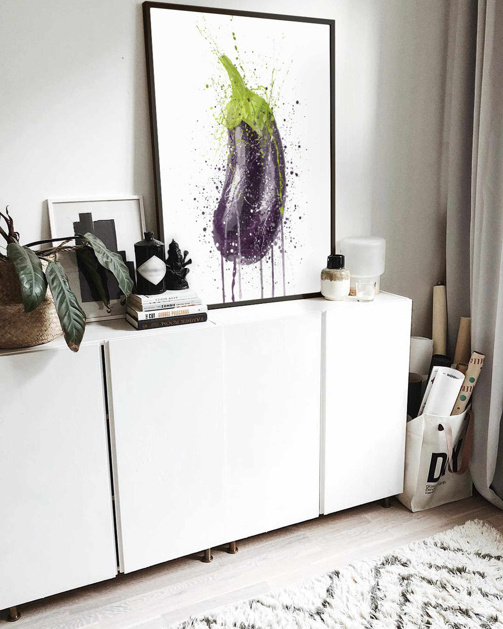 Eggplant Vegetable Wall Art Print