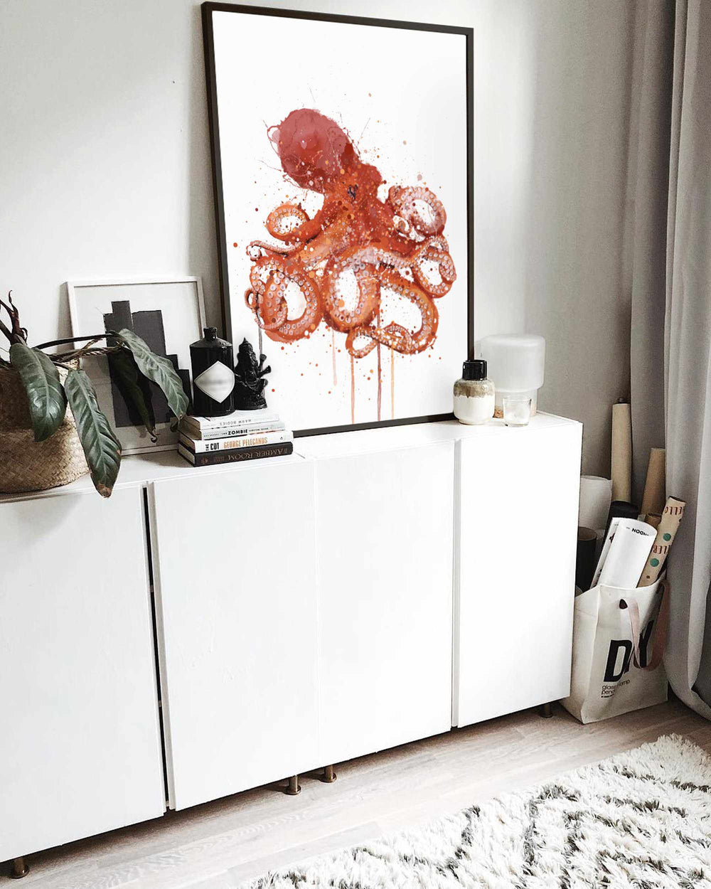 Sea Creature Wall Art Print 'Octopus'
