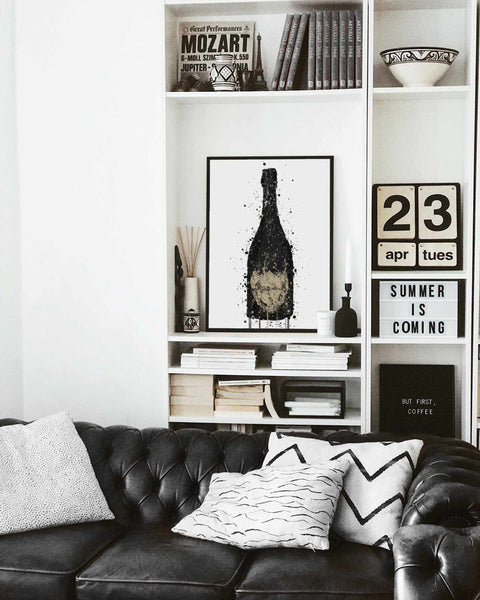 Champagne Bottle Wall Art Print 'Vanta'