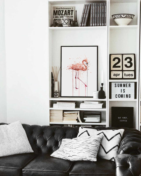 Pink Flamingo Wall Art Print