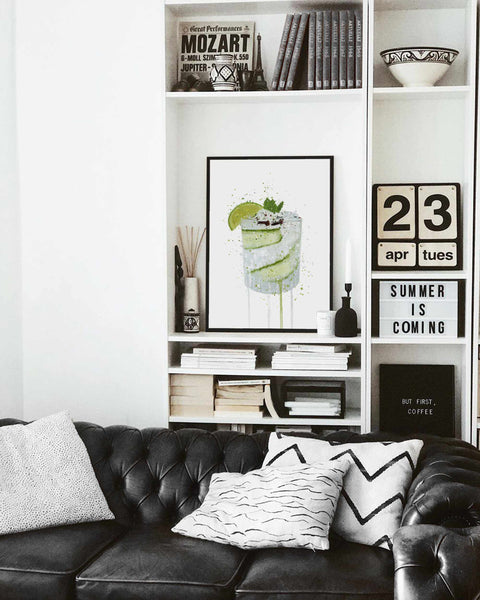Gin and Tonic 'Cucumber & Lime' Wall Art Print