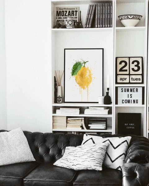 Whole Lemon Fruit Wall Art Print