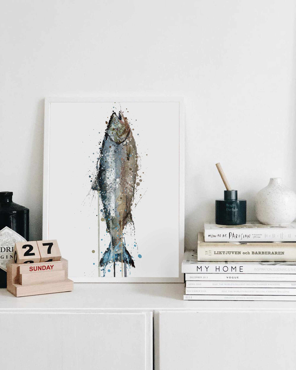 Seafood Wall Art Print 'Salmon'
