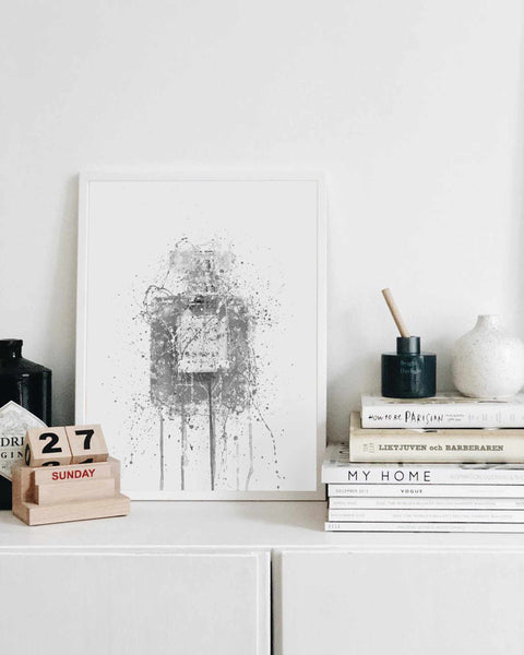 Fragrance Bottle Wall Art Print 'Blush' (Grey Edition)