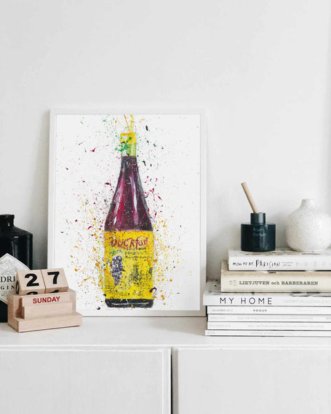 Liquor Bottle Wall Art Print 'Purple Tonic'