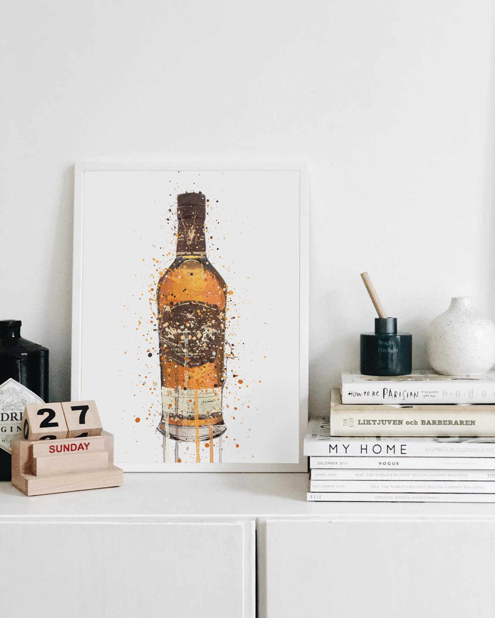 Whisky Bottle Wall Art Print 'Highland Monarch'