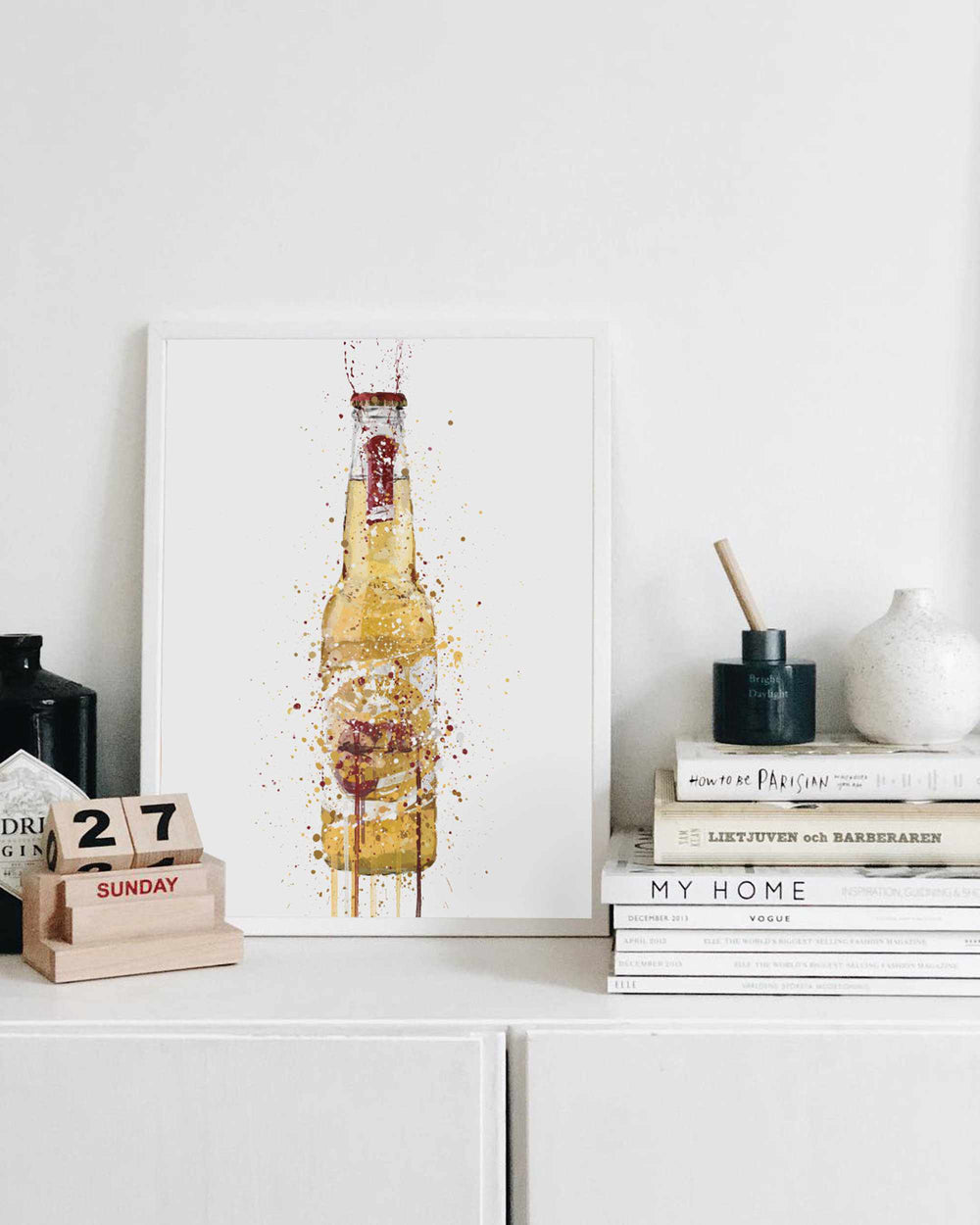 Beer Bottle Wall Art Print 'Desert'