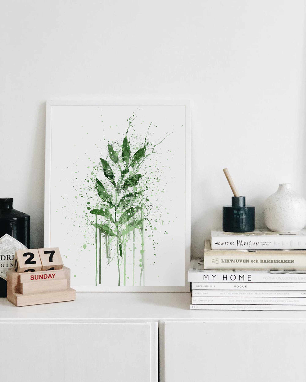 Rowan Leaf Wall Art Print