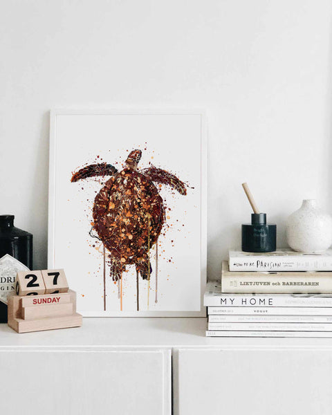 Sea Creature Wall Art Print 'Turtle'
