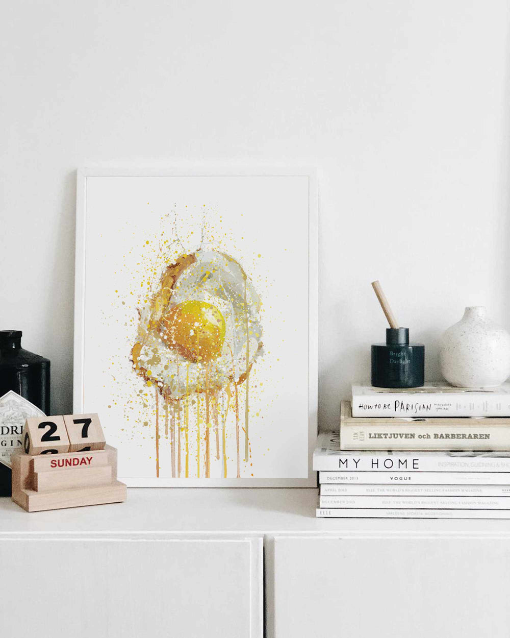 Runny Egg 3 Wall Art Print